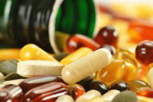 vitamins pile